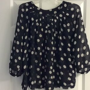 🌺Sheer Polka Dot Blouse🌺